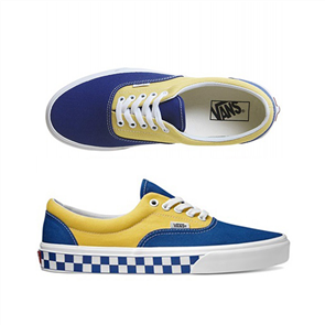 Vans ERA (BMX CheckB) T Shoe, Blue Yellow