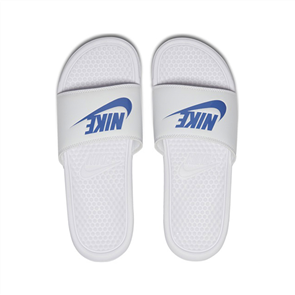 Nike Mens Benassi -Just Do It.- Sandal, White Varsity
