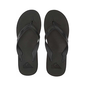 Quiksilver Carver Ii Mens Sandal, Black Grey Brown