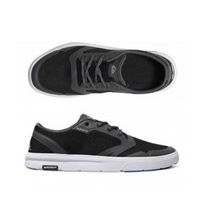 Quiksilver Mens Amphibian Shoe, Black Grey White
