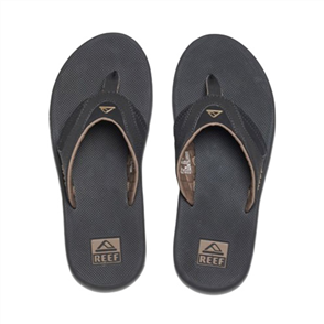 Reef Fanning Mens Jandal, Black Brown