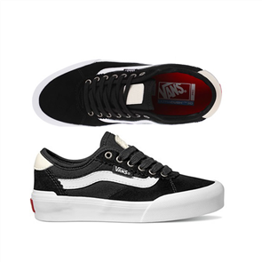 Vans Chima Pro 2 Shoes (Suede/Canvas), Black White