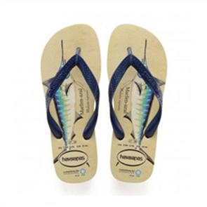 Havaianas Top Ic Marlin Jandal 8009, Beige Navy Blue