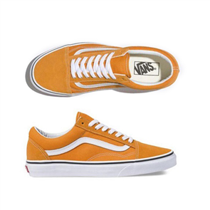 Vans Ua Old Skool Dark Cheddar Shoes, Orange Wht