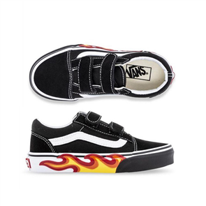 Vans Uy Old Skool V (Flame Co) Shoe, Black White