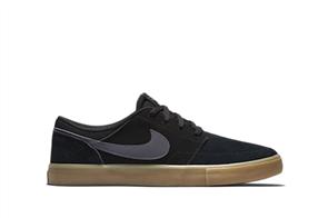 Nike Men'S Sb Solarsoft Portmore Ii Skateboarding Shoe, 009, Black Gum
