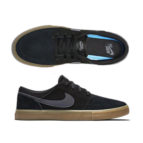 Nike Men'S Sb Solarsoft Portmore Ii Skateboarding Shoe, 009, Black Gum