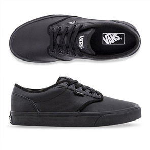 Vans Mens Atwood Black Leather Shoes