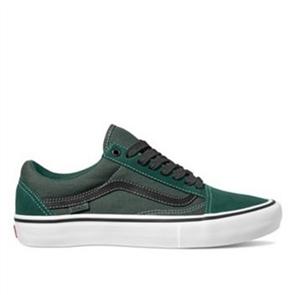 Vans Mens Old Skool Pro Trek Shoes, Green Black