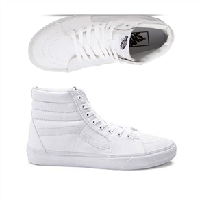 Vans Sk8 Hi Shoes, True White