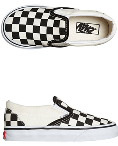 Vans Cso Blk&Wht Checker Board Toddler Shoes, Black White