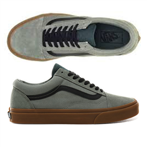 Vans Old Skool Gum Shadow Shoes, Trekking Green