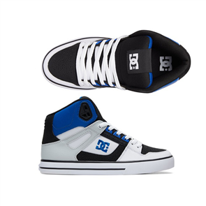 DC Pure High-Top Wc Mens Shoes, Blk Wht Blu