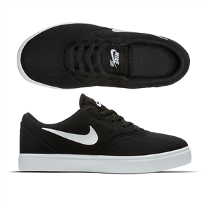 Nike SB Check Canvas (PS) Pre-School Youth Shoe, Black/ White