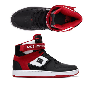 DC Pensford Shoe, Black/ White/ Red
