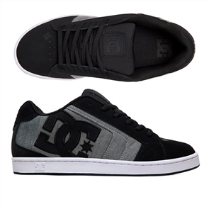 DC Net SE Mens Shoe, Black Heather Grey