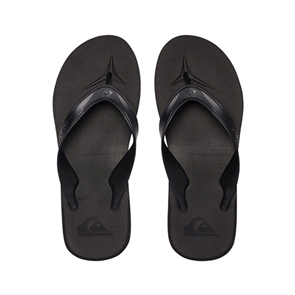 Quiksilver Carver ll Delux Mens Jandals, Black Brown