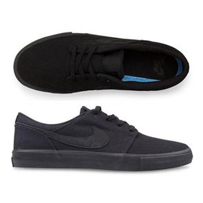 Nike Mens SB Portmore ll Solar Shoe, Black/ Black