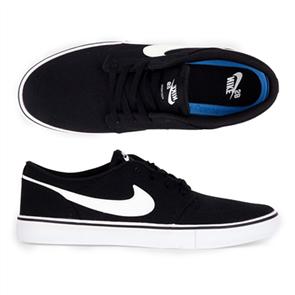 Nike Mens SB Portmore ll Solar Shoe, Black/ White