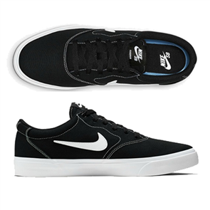 Nike SB CHARGE CANVAS SHOE, BLACK/WHITE-BLACK-GUM LIGHT BROWN