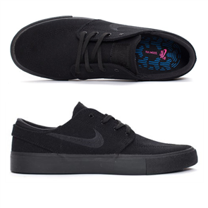 Nike SB Zoom Janoski Canvas Shoe, 004, Black/ Black