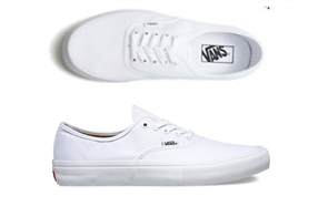 Vans Authentic Canvas Shoes, True White