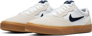 Nike SB Chron Solarsoft Shoe, White/ Obsidian