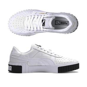 PUMA Womens Cali Shoe, White/Black