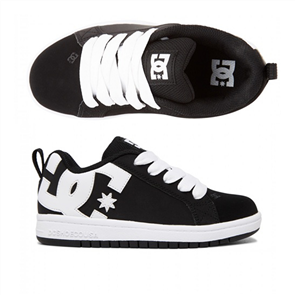 DC COURT GRAFFIK BOYS YOUTH SHOE, BLACK/WHITE