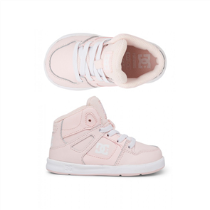 DC PURE HIGH-TOP SHOE, LIGHT PINK