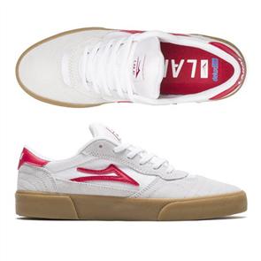 Lakai Cambrigde Mens Shoes, White/Red Suede