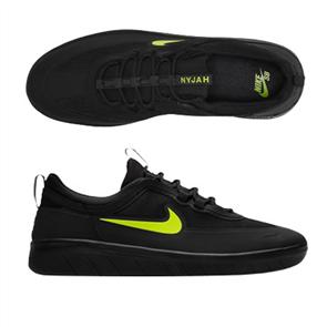Nike SB NYJAH FREE 2 SHOE,  BLACK/CYBER-BLACK-BLACK