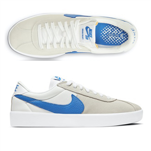 Nike SB Bruin React Shoe, White/Blue