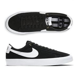 Nike SB ZOOM BLAZER LOW PRO GT SHOE, BLACK/WHITE