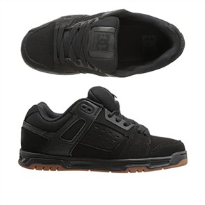 DC STAG MENS SHOE, BLACK/GUM