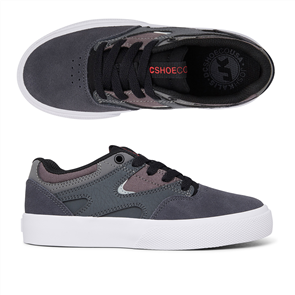 DC KALIS VULC BOYS SHOE, CHARCOAL/BLACK