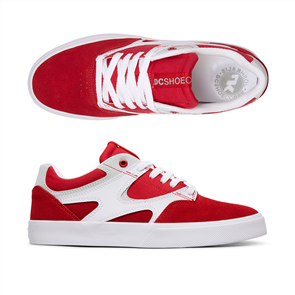 DC KALIS VULC MENS SHOE, RED/WHITE