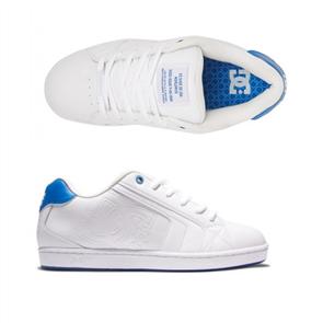 DC NET LE MENS SHOES, WHITE/WHITE/BLUE