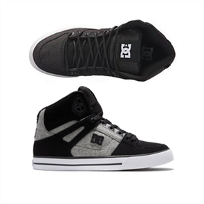 DC PURE HIGH-TOP WC Shoe, BLACK/BATTLESHIP/ARMOR
