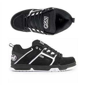 DVS Comanche Shoe, Black White Leather