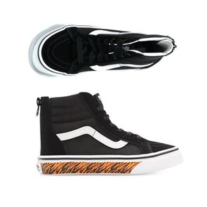 Vans SK8-HI ZIP ANIMAL SIDEWALL YOUTH SHOE, TIGER/ BLACK
