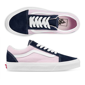 Vans Unisex Old Skool (Classic Sport) Shoe, Blushing Bride/ Parisian Night
