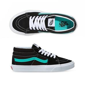 Vans Unisex SK8-MID (Classic Sport) Shoe, Black/ Waterfall