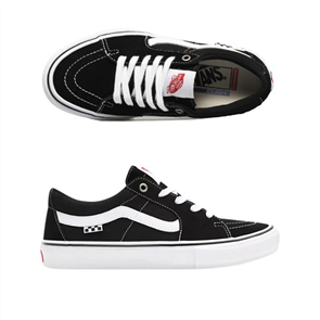 Vans Unisex Skate Sk8-LOW Shoe, Black/ White