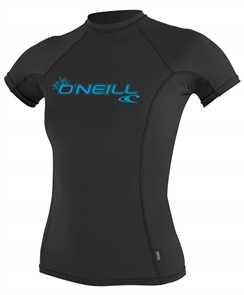 Oneill Womens Basic Skins Short Sleeve Rash Tee, 002 Black