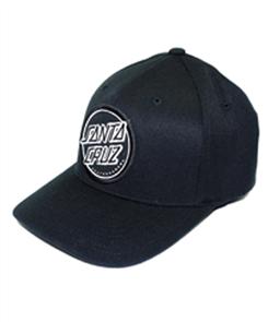 Santa Cruz Opus Dot Flexfit Cap, Black