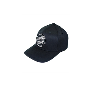 Santa Cruz Opus Dot Flexfit Hat, Black