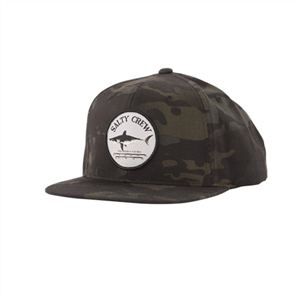 Salty Crew Bruce 6 Panel Cap, Multicam Black
