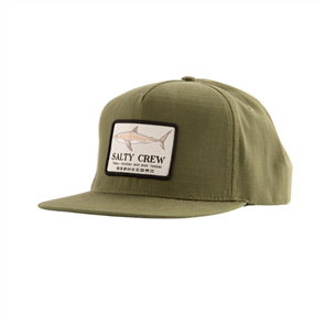 Salty Crew Farallon 5 Panel Cap, Olive