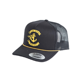 The Mad Hueys FLAMIN ANCHOR TRUCKER, BLACK